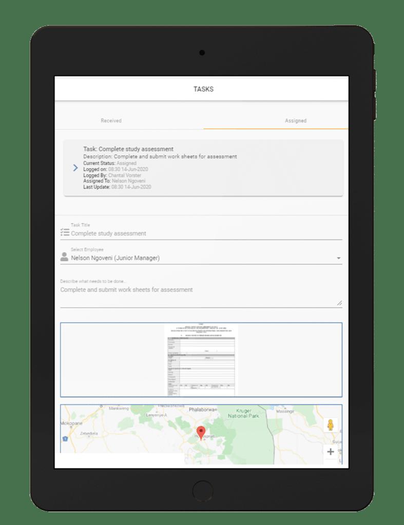 Work-Based-Communication on Ipad